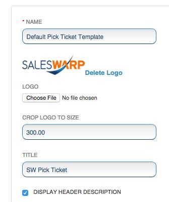 set up warehouse templates saleswarp support
